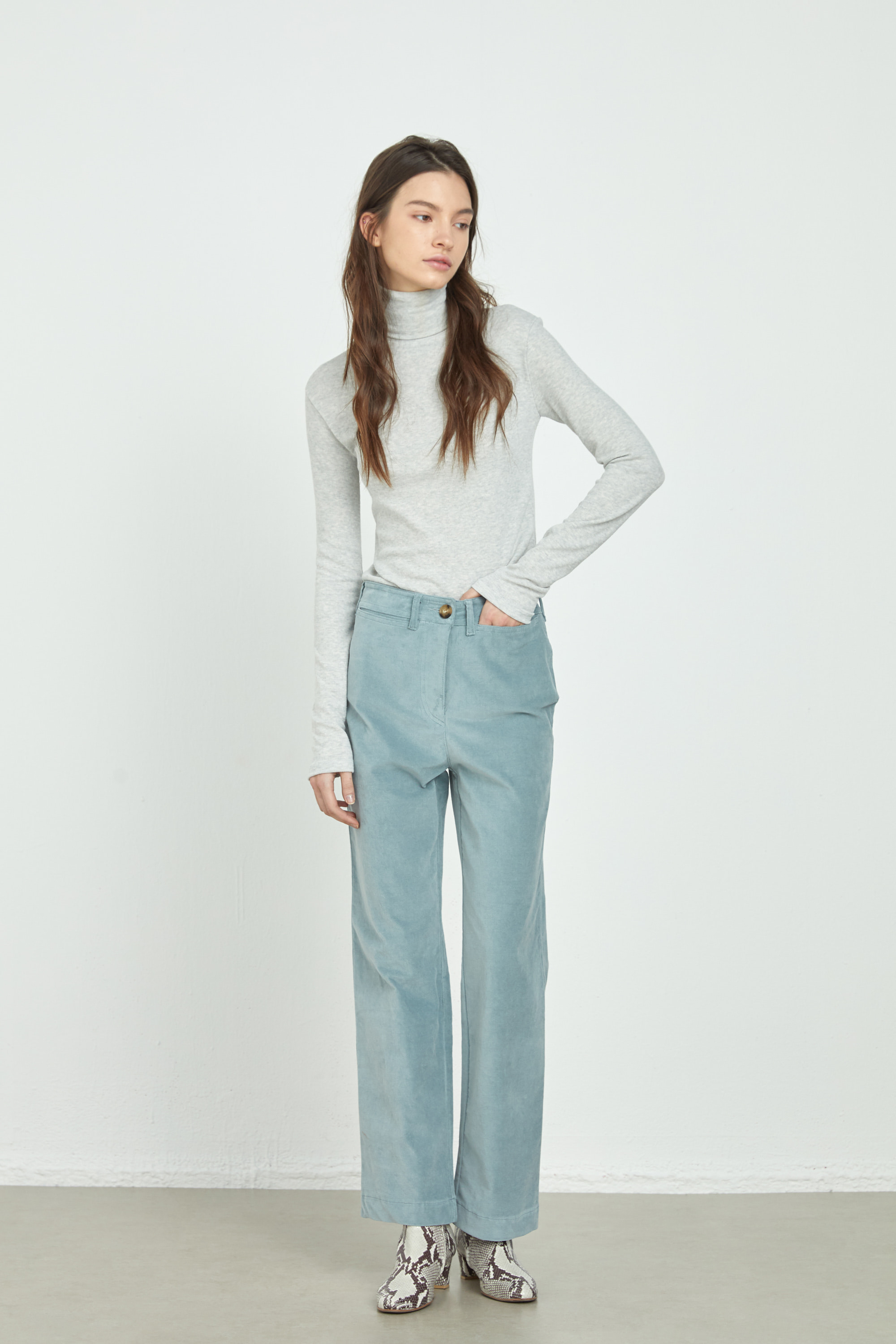 COTTON VELVET PANTS