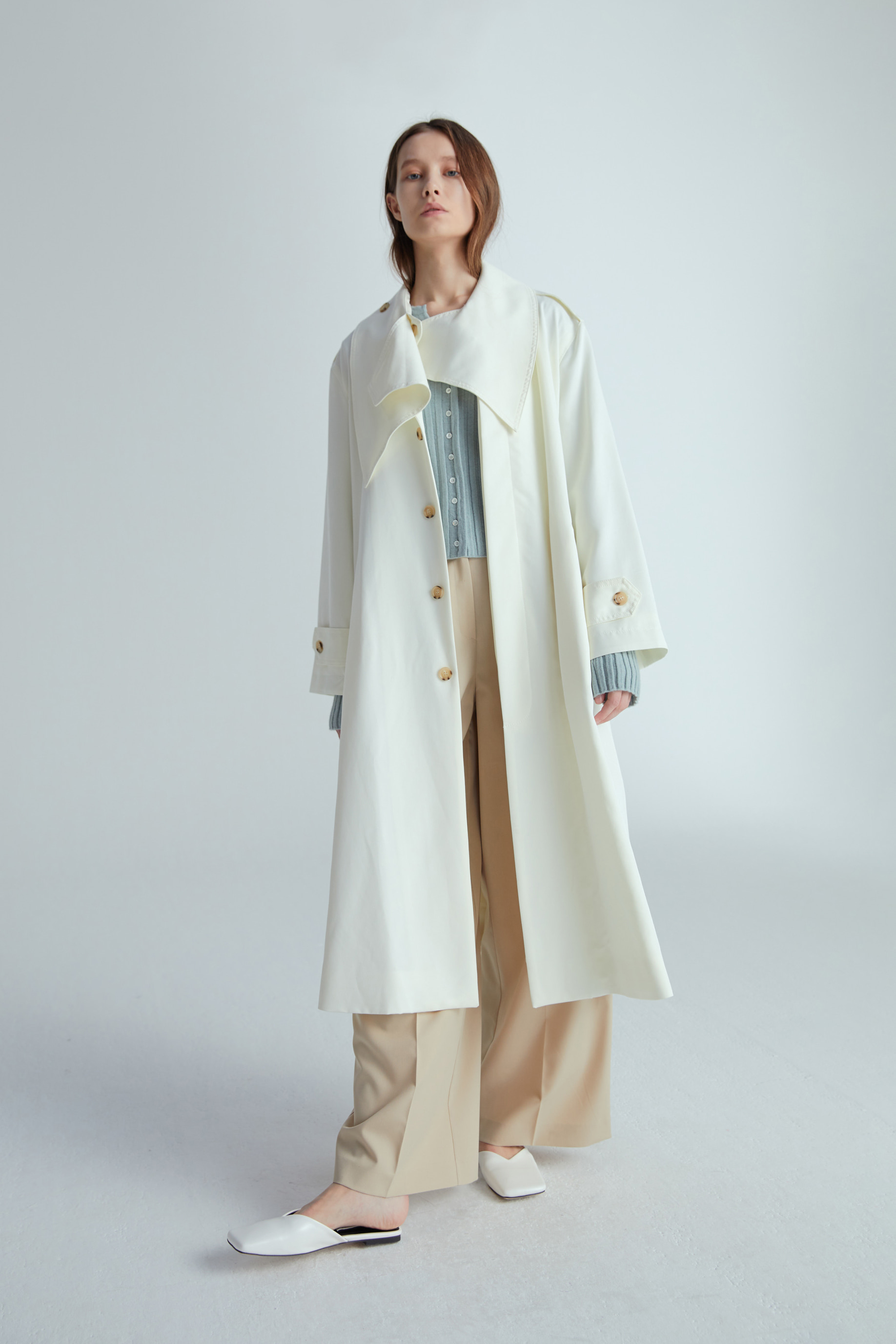 SCARF TRENCH COAT