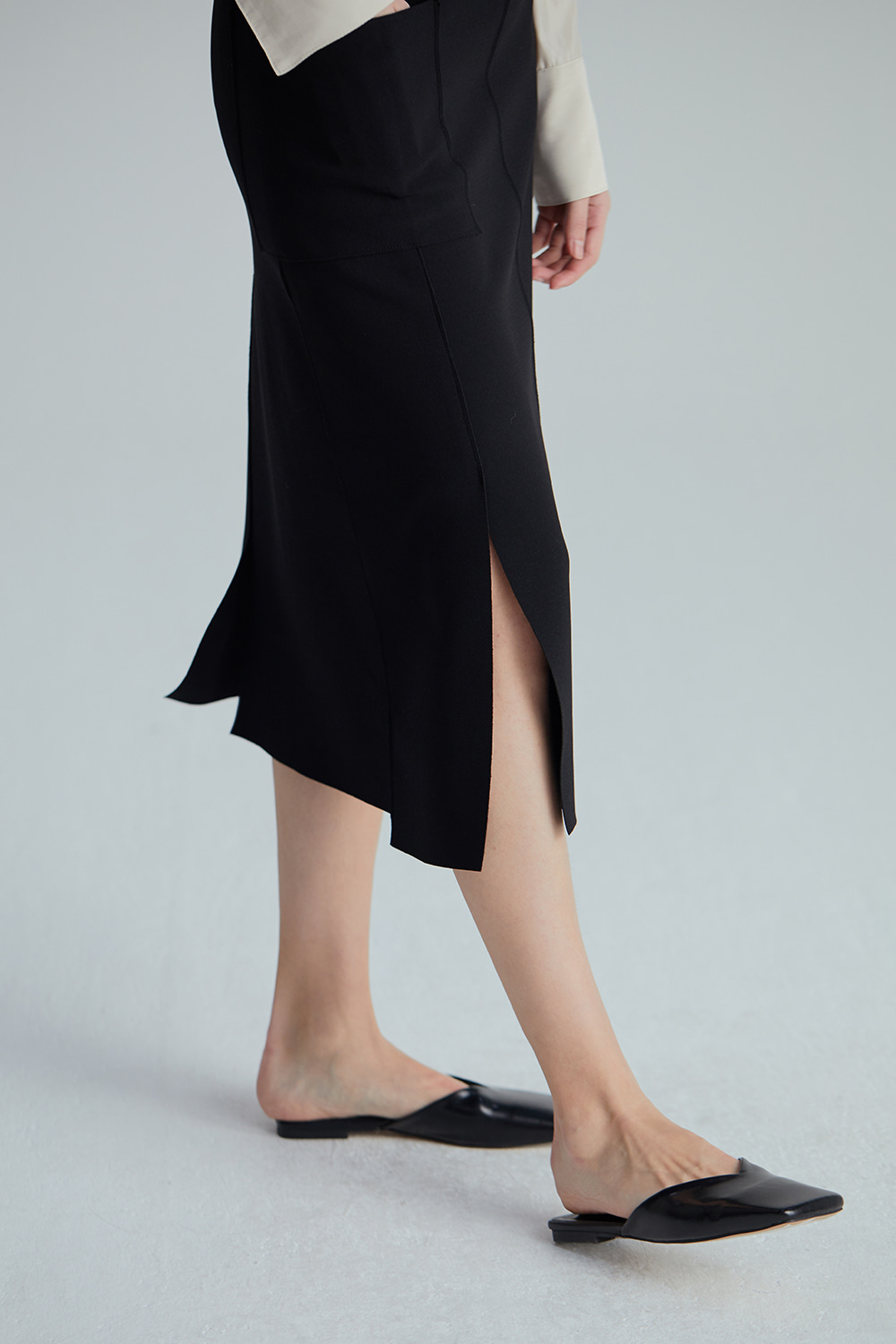 SLIT SKIRT (2COLOR)