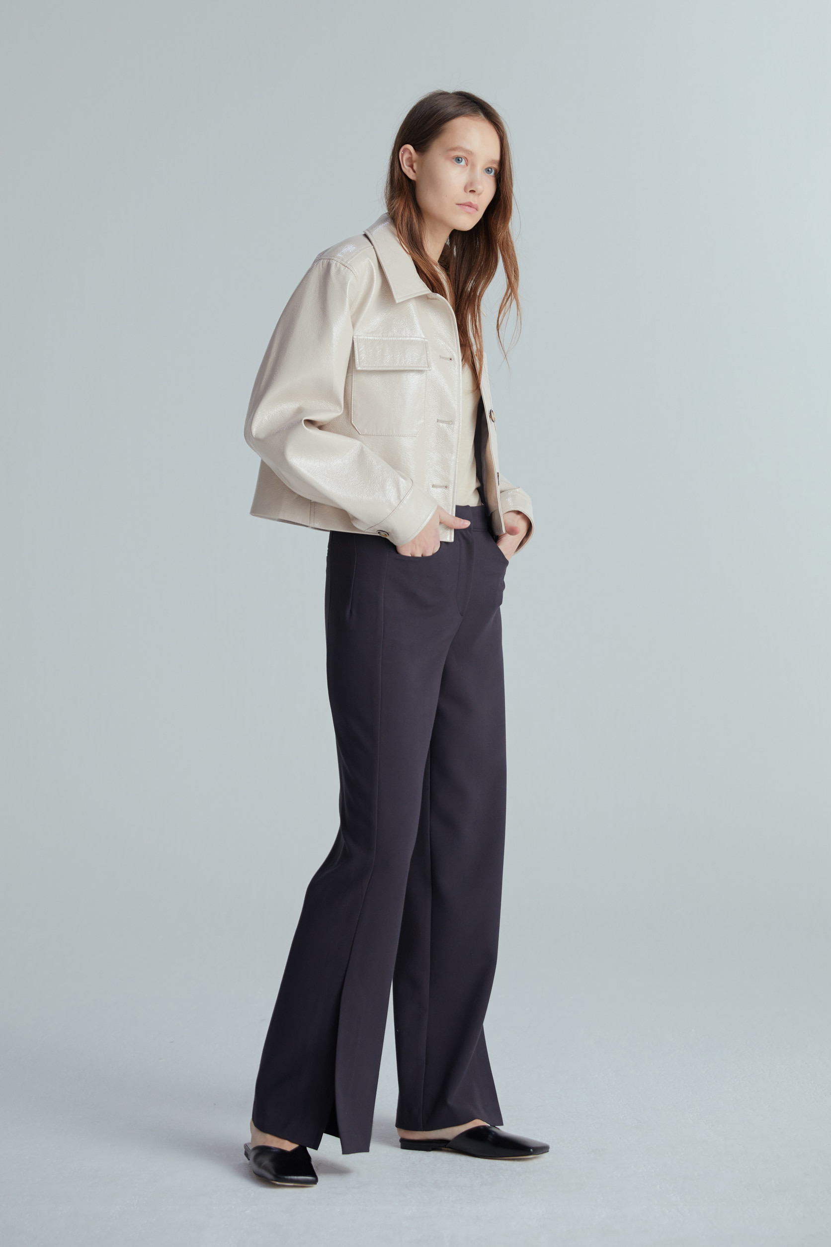 SOFT SLIT PANTS (2COLOR)