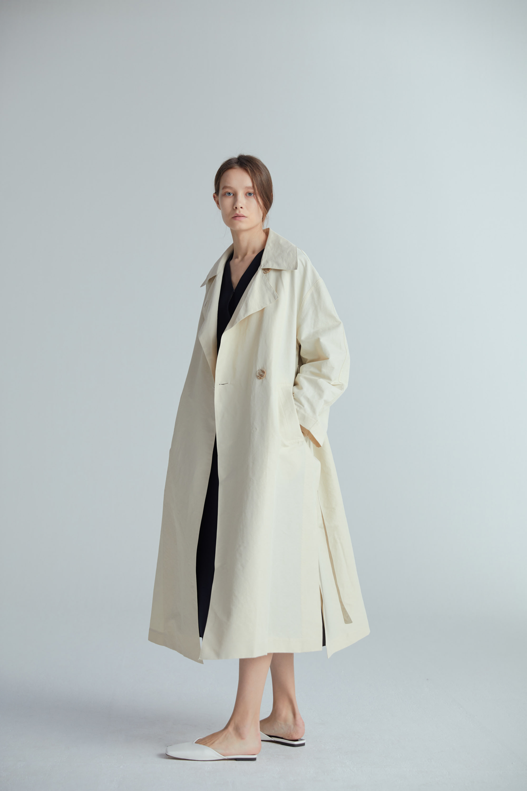 OVER FIT TRENCH COAT (2COLOR)