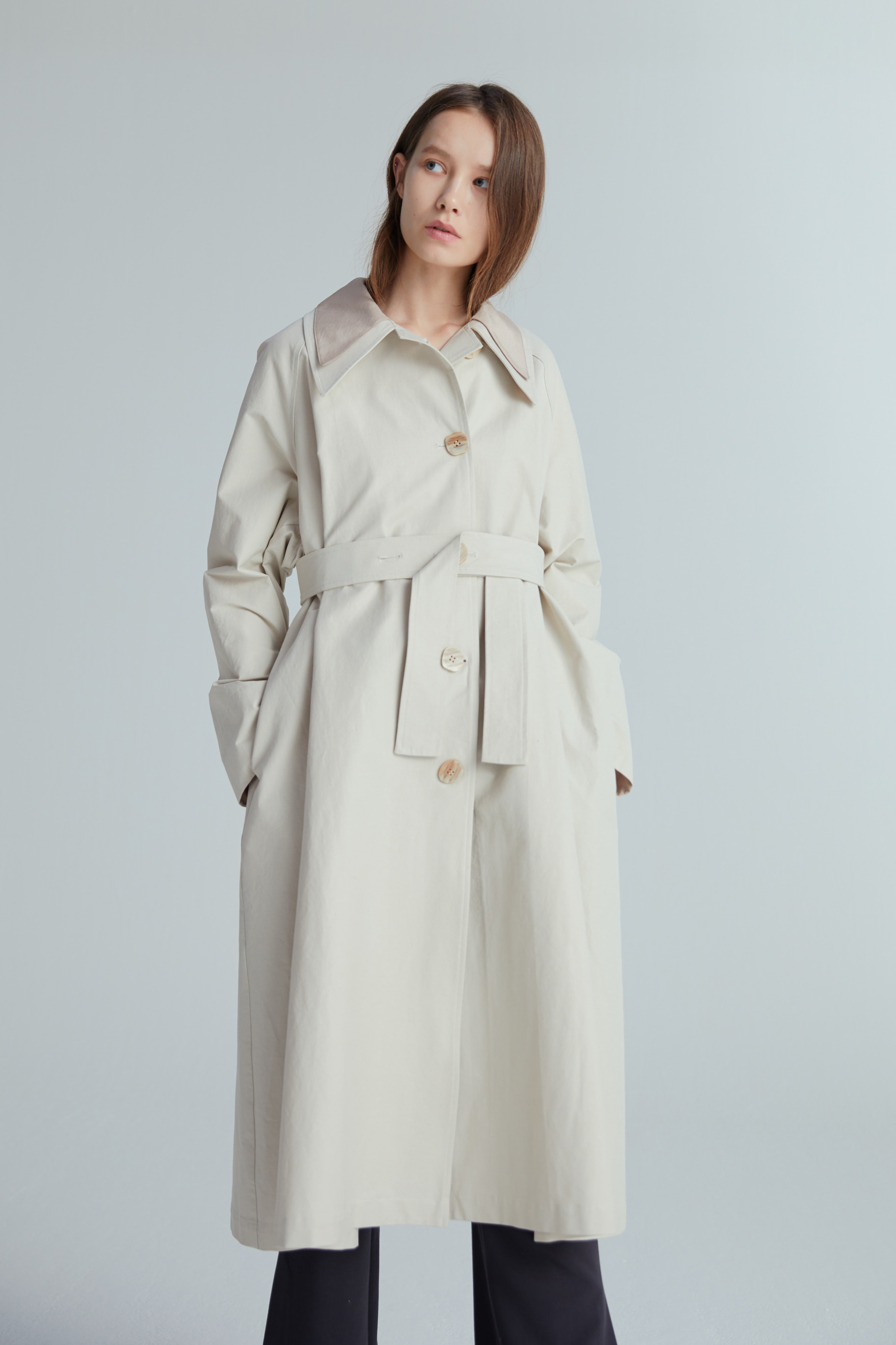 MER TRENCH COAT (2COLOR)